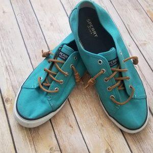 Sperry teal sneakers